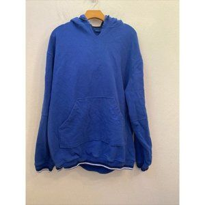 Mens MITCHELL AND NESS X78 Solid Blue Hoodie Size